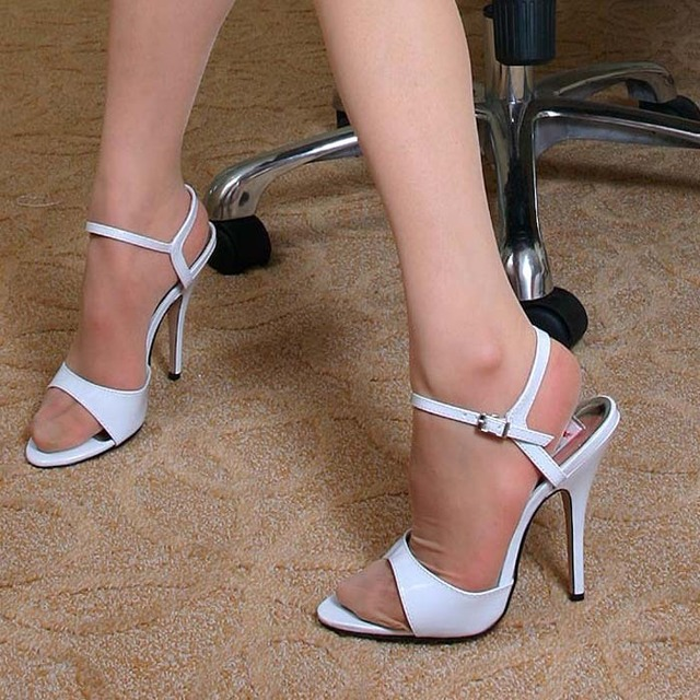Wholesale ultra high heels Every light 13cm white sexy high heeled ...
