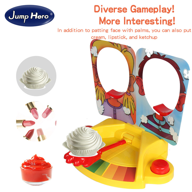 Cream Double Interactive Hit Face Machine Toy Plastic On Table Novelty Toys Pa Pa Jokes  ...