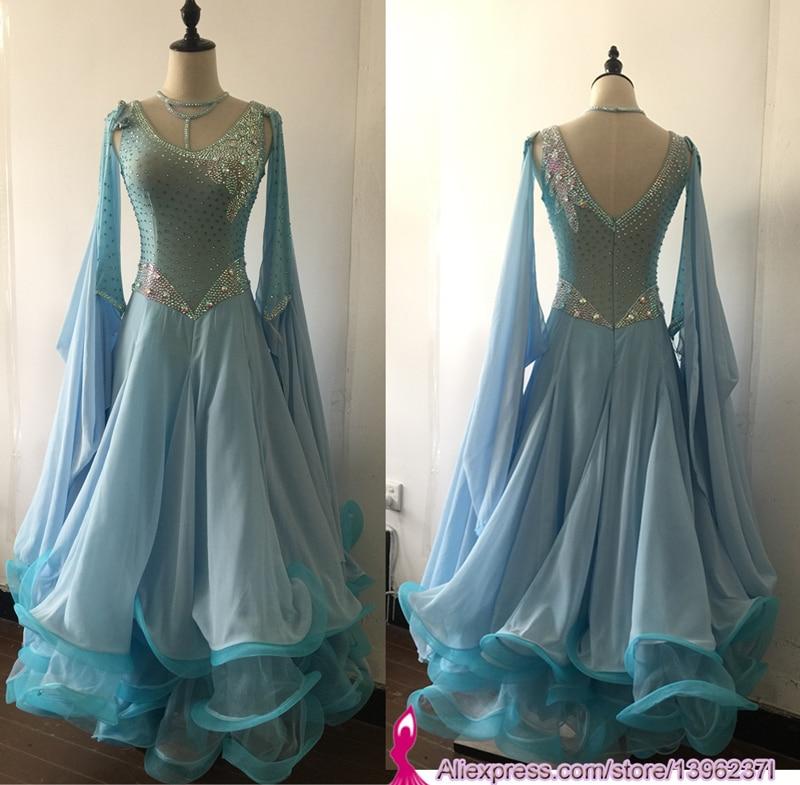 Standard Ballroom Dress For Women High Quality Flamenco Waltz Competition Dancing Skirt Spandex Lycra Ballroom Dance