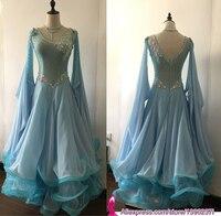Standard Ballroom Dress For Women High Quality Flamenco Waltz Competition Dancing Skirt Spandex Lycra Ballroom Dance Dresses