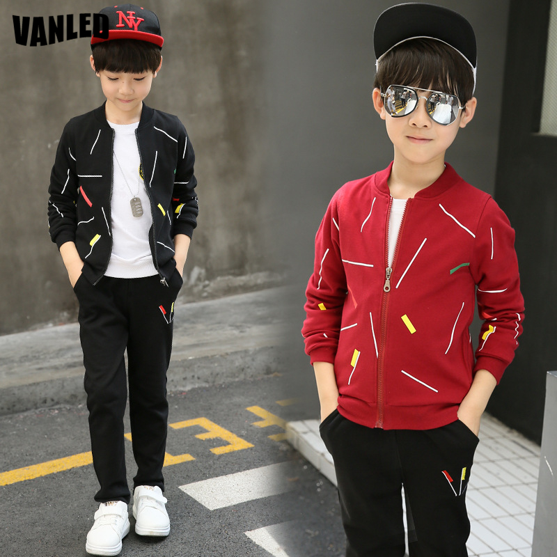 Fashion Brand Teenagers Boys Clothing Sets Warm Long Sleeve Boys Sports Set Top Quality Kids Jacket+Pants Children Clothes Suits