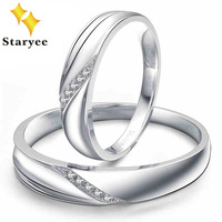 Diamond Wedding Sets 18K Solid White Gold Classic Anniversary Engagement Wedding Band Rings For Women Bridal Gift Fine Jewerly