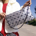 Fashion Brand Shoulder Bags Geometric Diamond With Chain Crossbody Bags For Women Envelope Clutch Purse Evening Bag