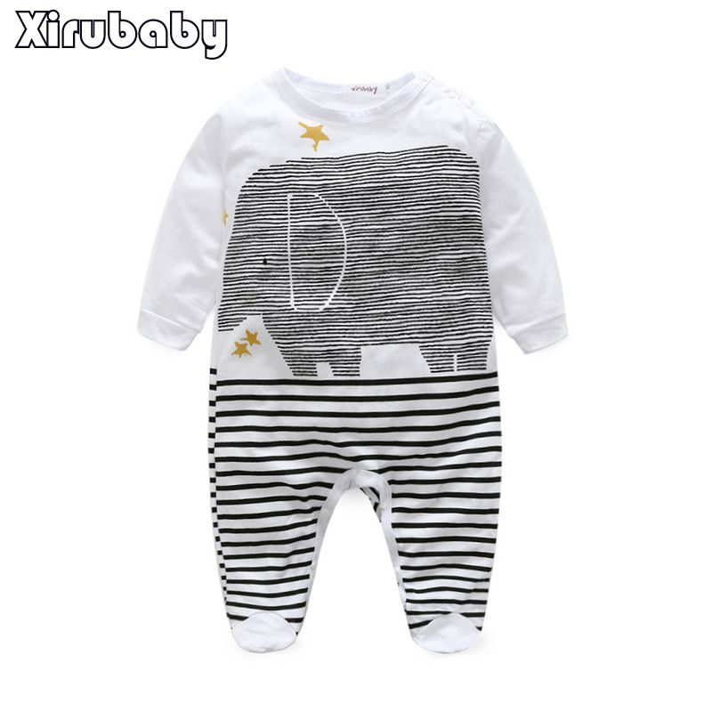 Newborn spring/autumn Rompers 2015 Cute Toddler Baby Girl Boy Jumpers Rompers Playsuit Outfits Clothes 0-24M