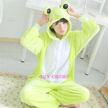 Kigurumi adult frog onesies Pyjamas animal costume Pajamas Unisex Cartoon  character pijamas  f6b632f33