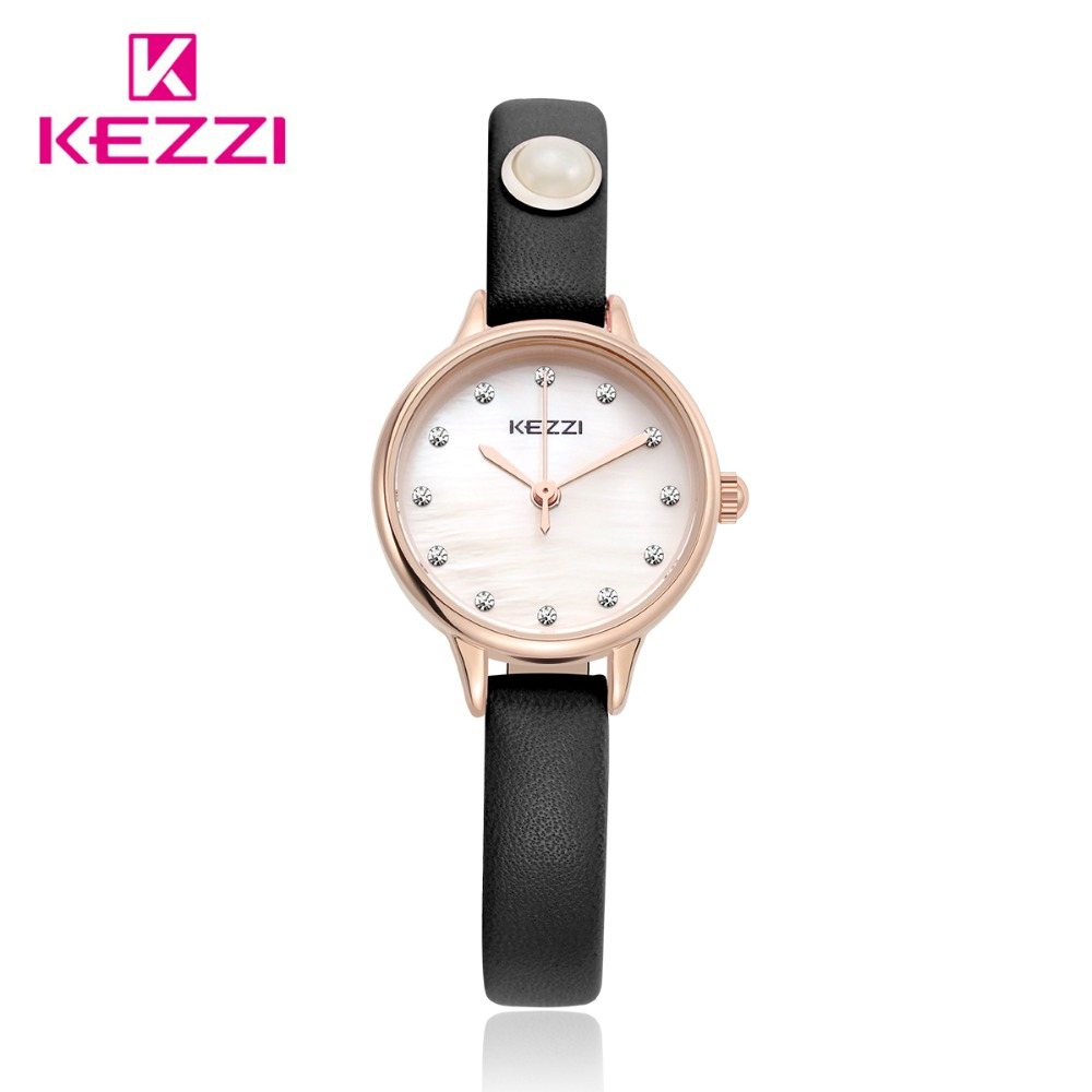 Kezzi Top Brand Women Dress Watches  Waterproof Leather Strap Fashion Quartz Watch Student Wristwatches Ladies Hours k-1498 free shipping kezzi women s ladies watch k840 quartz analog ceramic dress wristwatches gifts bracelet casual waterproof relogio