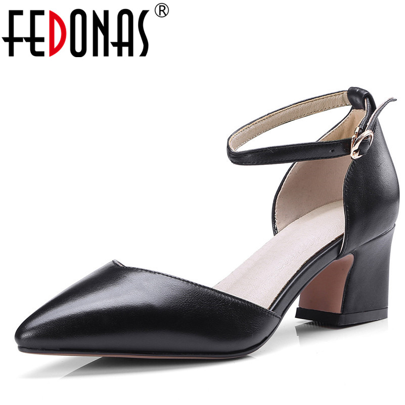 FEDONAS Fashion Women Mary Jane Pumps Elegant Genuine Natural Leather Thick High Heels Point toe Party Wedding Shoes Woman Pumps mary jane sterling u can algebra i for dummies