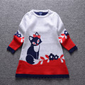 Promotion Children Girls Sweaters Computer Printing Pattern For 3-8 Years Girls Wear