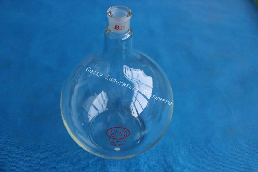 5L (5000ml) Flat bottom flask, single neck, heavy wall, 24/29 joint5L (5000ml) Flat bottom flask, single neck, heavy wall, 24/29 joint