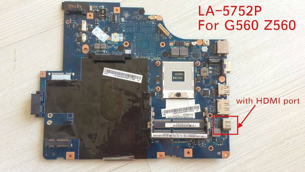 100% Working NIWE2 LA-5752P mainboard for Lenovo Z560 G560 laptop motherboard HM55 ( with HDMI Port ) стоимость