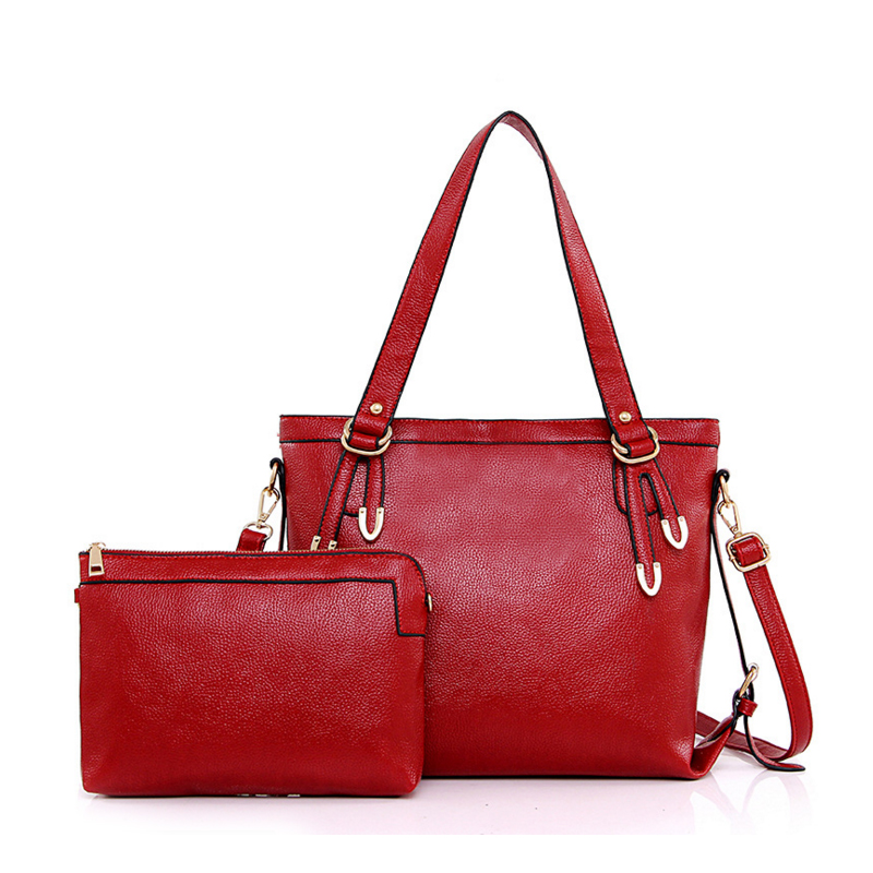 Famous Brand Women Bag 2017 Fashion Women Messenger Bags Handbag   Tote Set PU Leather Composite Bag Day Clutch Bolsa Feminina
