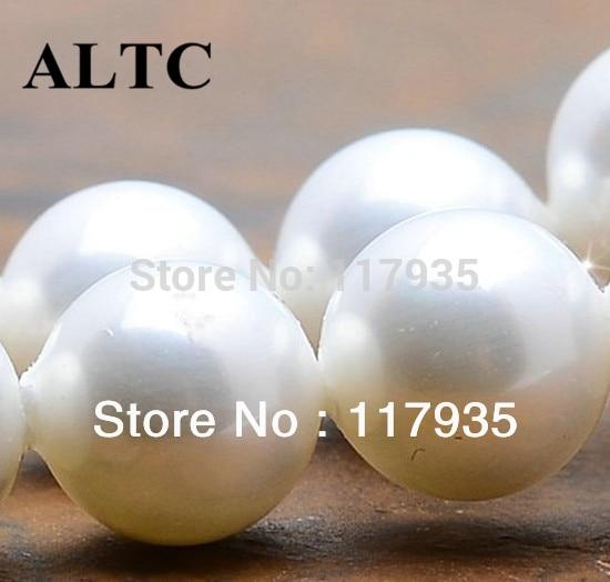 الجملة 4-12mm DIY الطبيعية قذيفة بيضاء الخرز الملحقات الخرز لصنع المجوهرات
