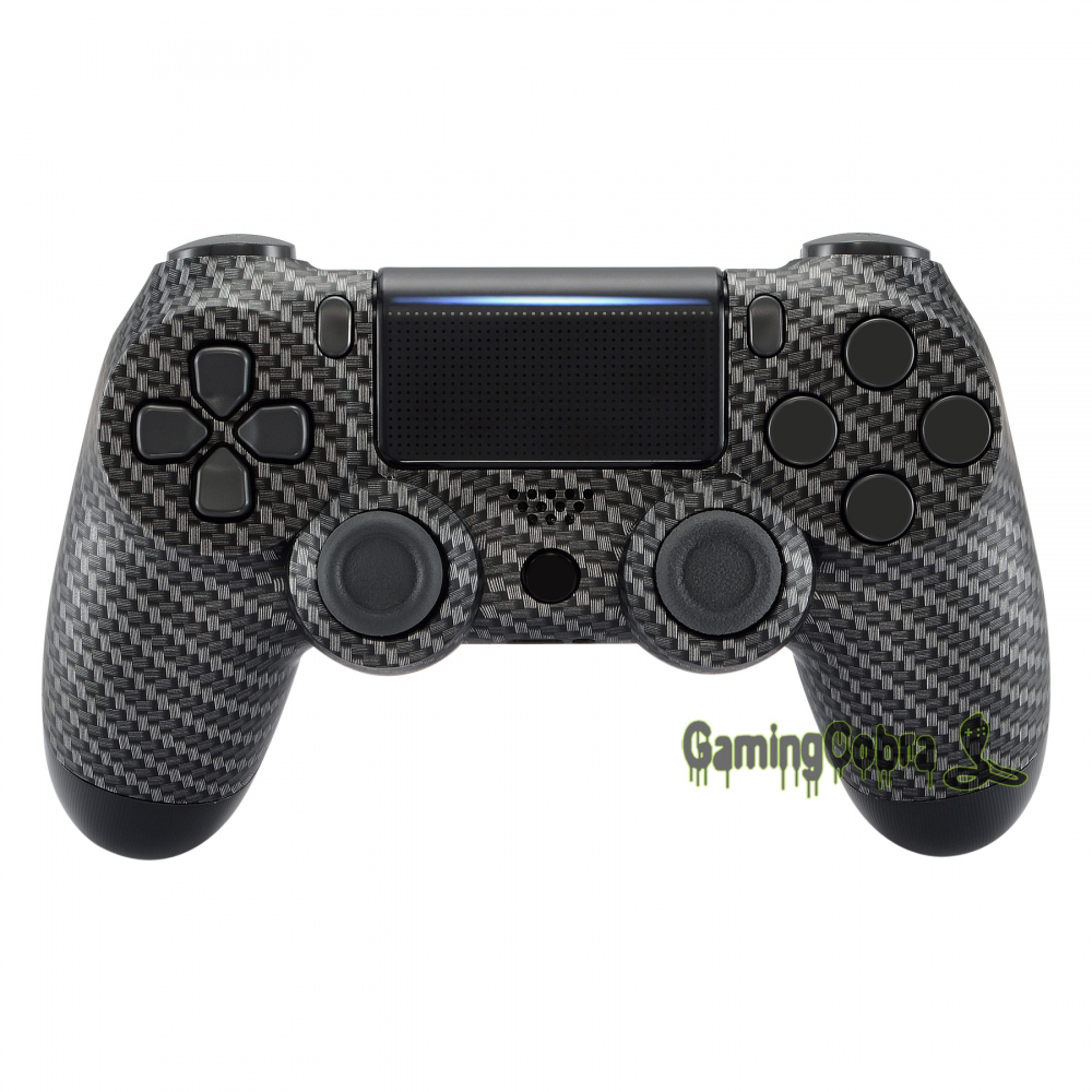 Customized Carbon Fiber Top Housing <font><b>Shell</b></font> for PS4 Pro PS4 Slim Controller <font><b>JDM</b></font>-040 <font><b>JDM</b></font>-050 <font><b>JDM</b></font>-<font><b>055</b></font> #SP4FS03 image