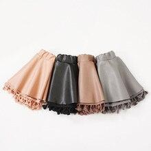 e30894c5ec Chifuna falda de las niñas de buena calidad de los niños de cuero de la PU  falda bebé trajes de Niños de moda faldas Niña niño n.