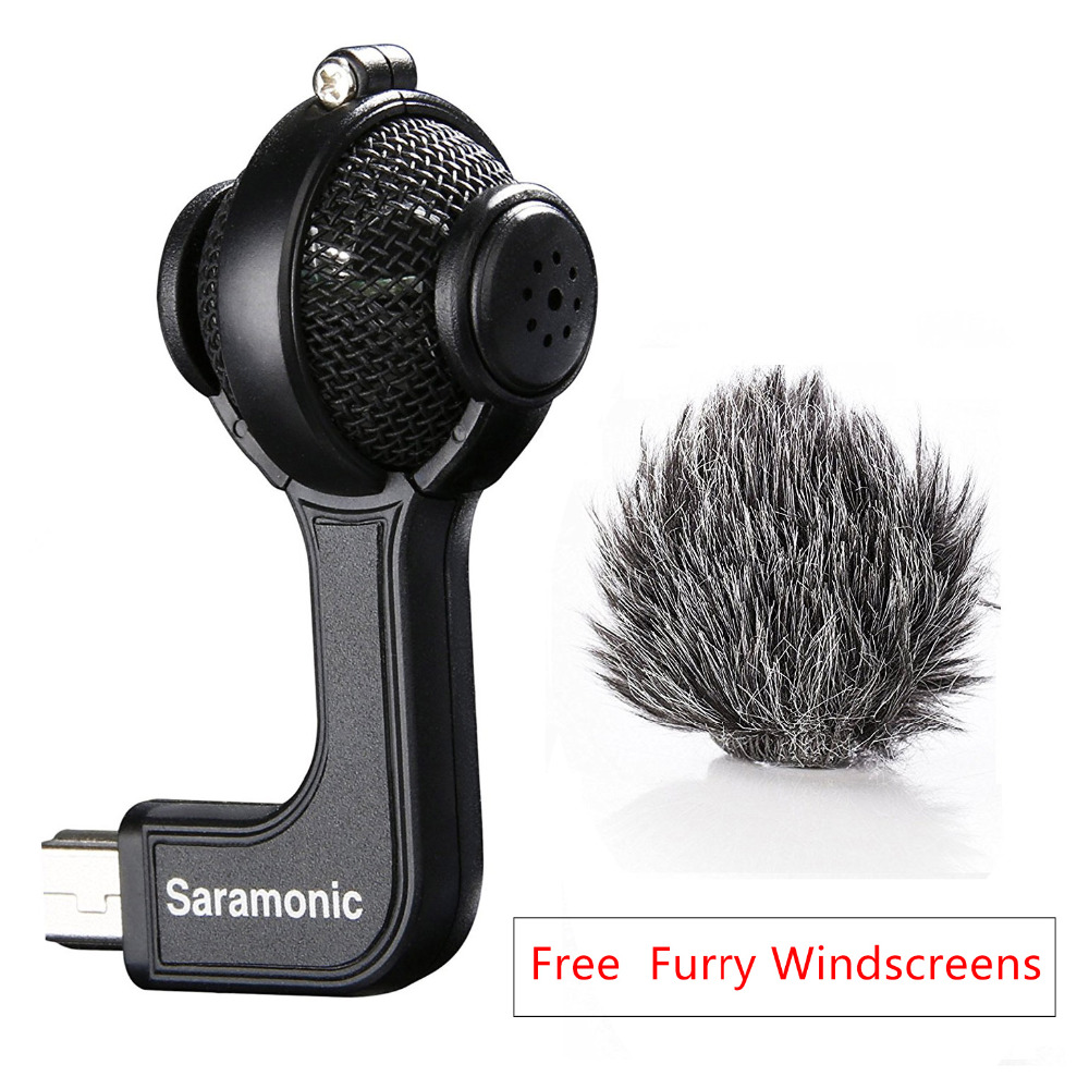 Saramonic G-Mic Stereo Ball Microphone with Foam & Furry Windscreens for GoPro HERO3, HERO3+ and HERO4 smj g 649 bodyboard surfboard surfing fixed bracket for gopro hero3 3 sj4000 black