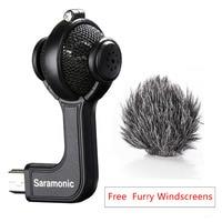 Saramonic G Mic Stereo Ball Microphone with Foam & Furry Windscreens for GoPro HERO3, HERO3+ and HERO4