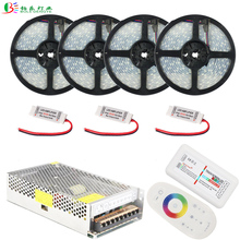20M RGBW LED Strip IP67 Waterproof RGBWW Diode Tape 10M 15M 5M +2.4G RF Remote RGBW Controller+RGBW Amplifier+DC12V Power Supply