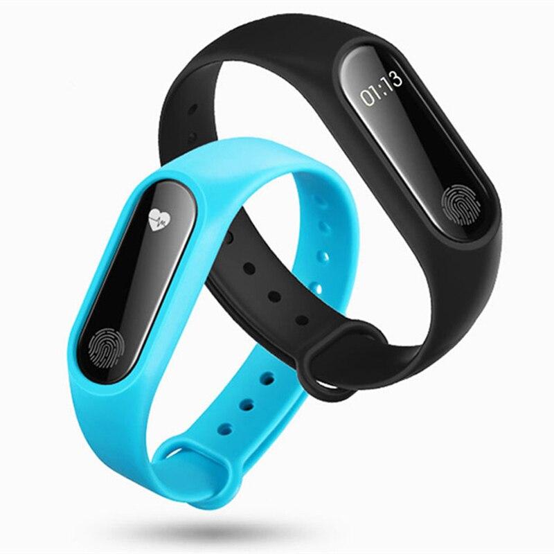 M2 Sport Bande À Puce Moniteur de Fréquence Cardiaque Pulse de Tension Artérielle Mètre Bracelet Fitness Smartwatch Smartband pour iOS Android Téléphone