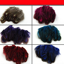 50pcs/lot feather diy jewelry accessories feathers Pheasant hair Okura color craft Wedding costume decorative AC061