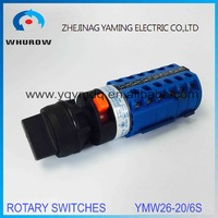 LW26 YMW26 20S 6 Rotary Switch 3 Postion Single Hole Installation 690V 20A 6 Pole Universal