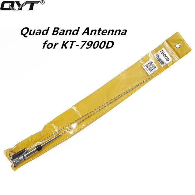Мобильное радио антенна QYT для QYT, 4 диапазона, 144/220/350/440 МГц, для автомобиля, KT7900D, KT, 7900D