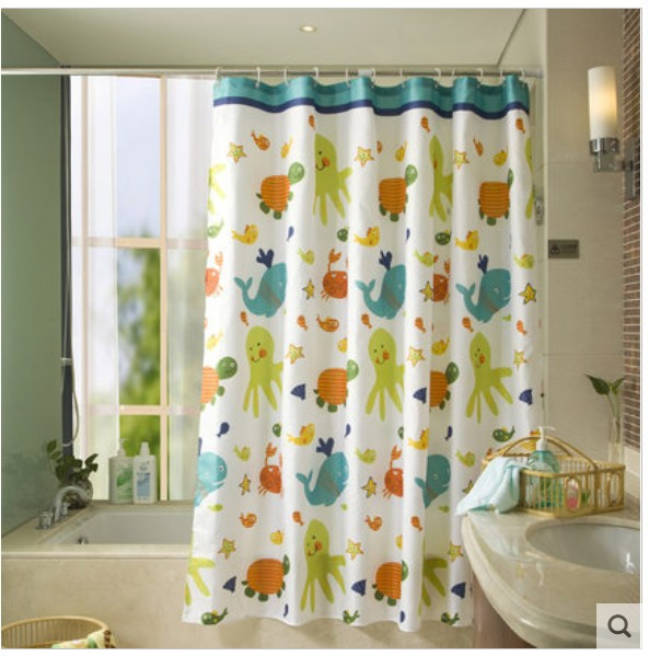 Amazing Sanitary Appliances Turtle And Fish Waterproof Shower Curtain Christmas  Thickened Polyester Shower Curtain Bathroom Curtains