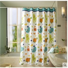 Sanitary appliances turtle and fish waterproof shower curtain Christmas thickened polyester shower curtain bathroom curtains