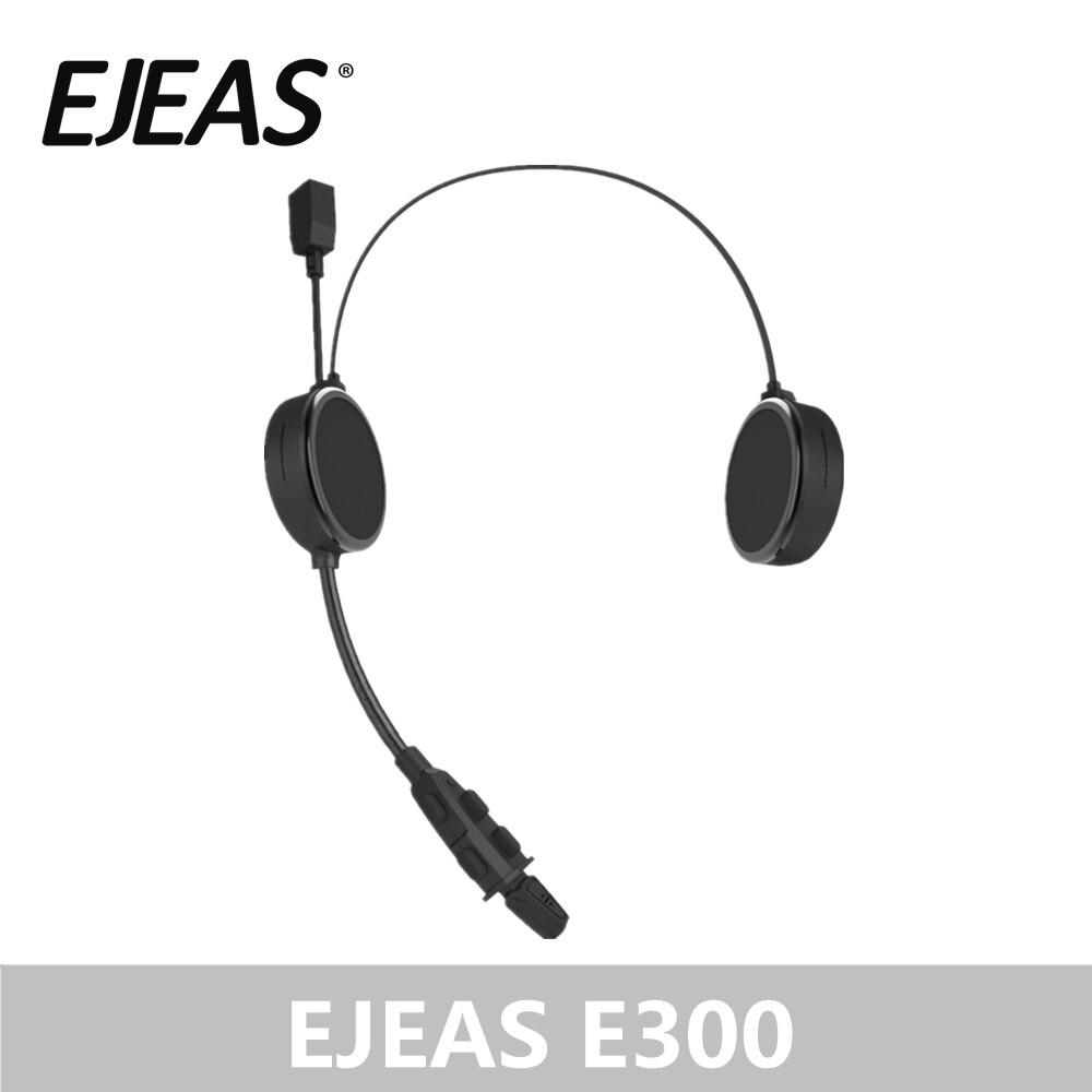 EJEAS E300 Bluetooth 4 2 Motorcyclist Helmet Headphone Intercom AUX 40mm Speaker 2 Mobile Devices Connection