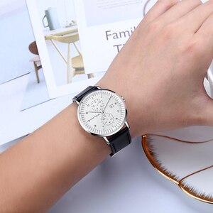 Image 3 - MINI FOCUS Mens Watches Top Brand Luxury Quartz Watch Men Calendar Bussiness Leather relogio masculino Waterproof reloj hombre