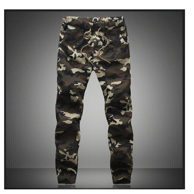 M-5X 2019 Mens Jogger Autumn Pencil Harem Pants Men Camouflage Military Pants Loose Comfortable Cargo Trousers Camo Joggers(China)