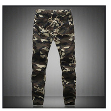 M-5X 2017 Mens Jogger Autumn Pencil Harem Pants Men Camouflage Military Pants Loose Comfortable Cargo Trousers Camo Joggers(China)
