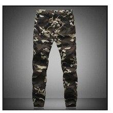 M-5X 2017 Для мужчин с Jogger осенние узкие штаны-шаровары Для мужчин камуфляж Военное Дело Брюки для девочек свободные удобные брюки-карго Мотобрюки Camo Joggers