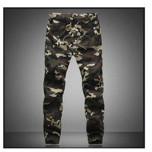 295a7db04ce HANQIU Men Camouflage Military Cargo Trousers Joggers