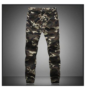 M-5X 2020 męskie Jogger jesień ołówkowe spodnie haremki męskie spodnie wojskowe moro luźne wygodne spodnie cargo Camo Joggers tanie i dobre opinie HANQIU Ołówek spodnie mens joggers Na co dzień Mieszkanie Poliester COTTON Midweight NONE Suknem REGULAR Pełnej długości