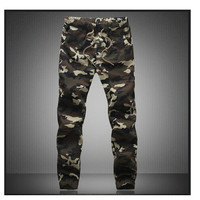 M 5X 2015 Mens Boutique Autumn Pencil Harem Pants Men Camouflage Military Pants Loose Comfortable Cargo