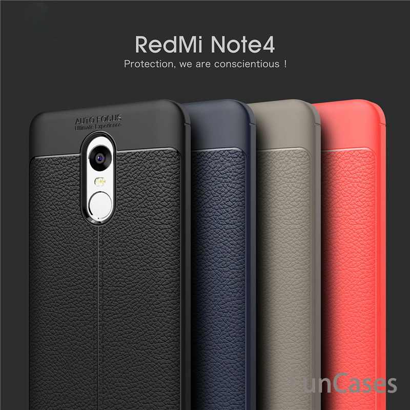For Xiaomi <font><b>Redmi</b></font> <font><b>Note</b></font> <font><b>4X</b></font> <font><b>Case</b></font> 3GB 32GB Luxury TPU Rubber Back Cover For <font><b>Redmi</b></font> <font><b>Note</b></font> 4 Pro Prime Note4 4GB 64GB global version image