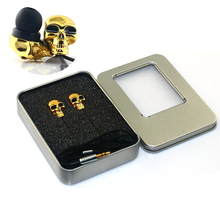 2016 New Cool Design Skull Stereo Bass Earphone 3.5mm In-ear Earphone for Mp3 Mp4 iPhone Xiaomi Redmi Samsung Birthday Gifts