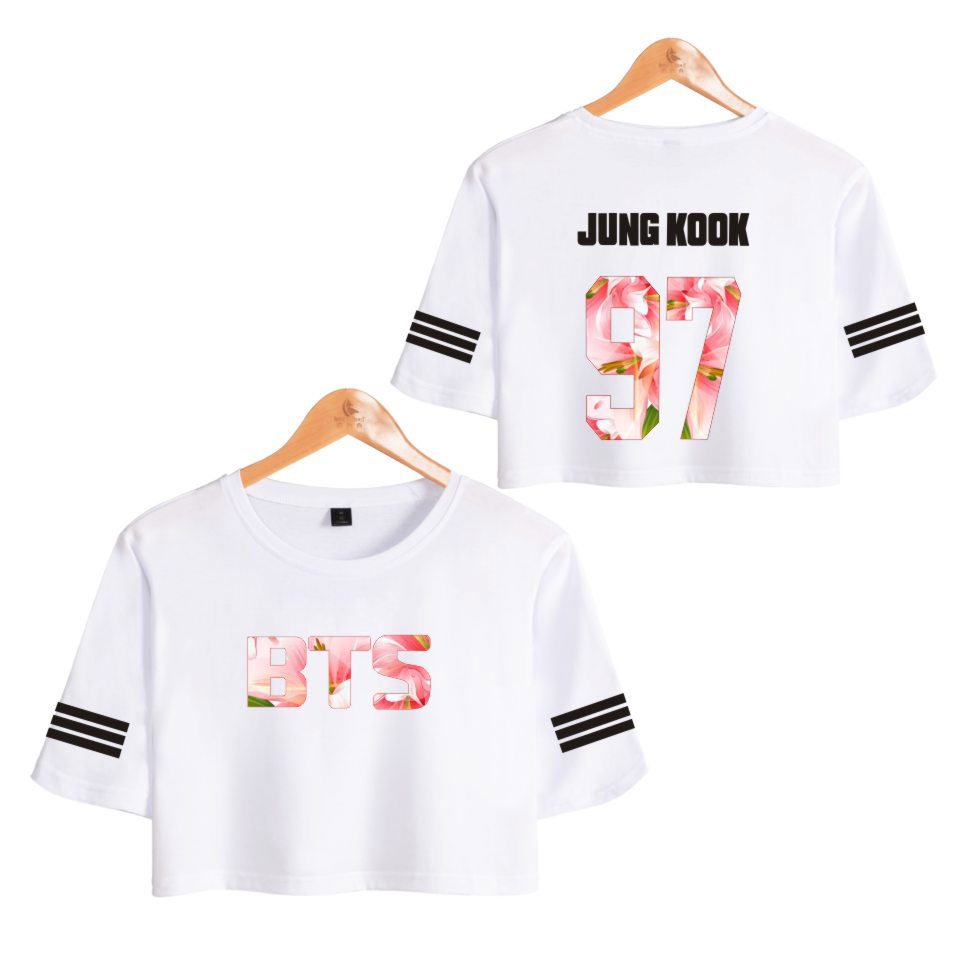 LUCKYFRIDAYF 2018 BTS LOVE YOURSELF Summer bts Kpop T-shirts tee Tops Short Sleeve T-shirt Women Fitness clothing Summer 1