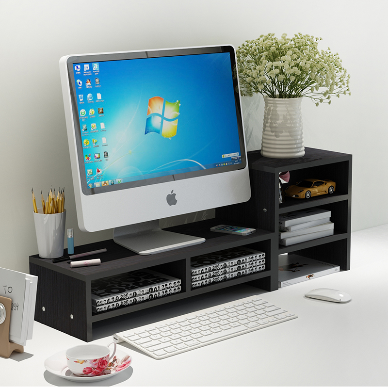 Buy Computer monitor Increased desk Base Stand Office desktop Storage shelves for only 65.1 USD