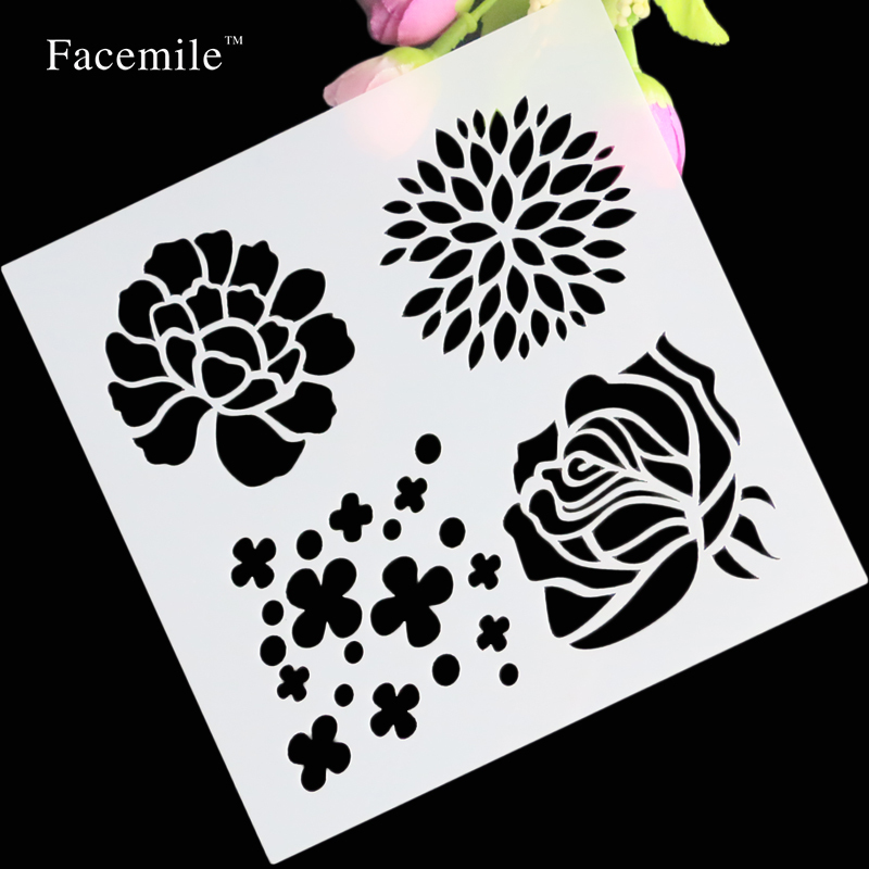 Free Shipping  Album Masking Spray Painted Template Scrapbooking Tool Card DIY Flower Letter Drawing Stencil Laser Cut Template butterfly orchid flower thank you card 3d pop up greeting card handmade card free shipping