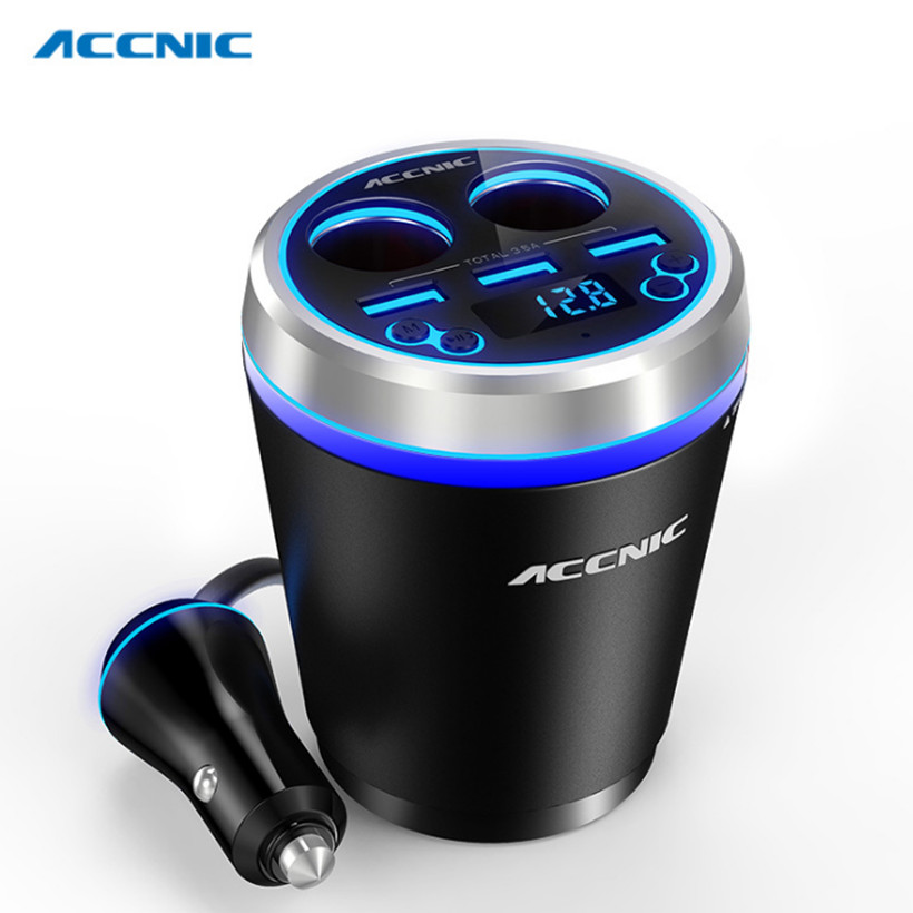 C1 TF/Miscro SD Car Music MP3 Player Handsfree Bluetooth Car Kit FM Transmitter Cigaretter Ligther Adapter 3 USB Cup Car Charger