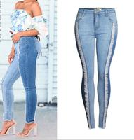 2018 Spring New Fashion Fringe Skinny Jeans Woman Jeans For Girls Jeans Women High Waist Stretch Jeans Female Pants