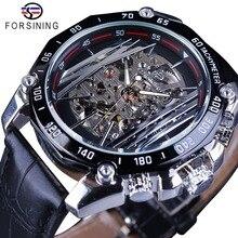 FORSINING Mechanical Men Fashion Sport Watch Transparent Ske