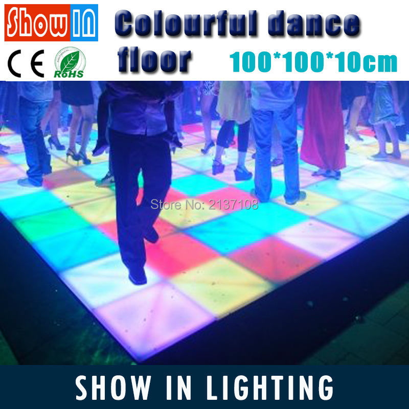 432PCS 100CM LED Wedding Lighted Dance Floor RGB DMX Stage Lighting Fixture Party DJ Disco Bar Nightclub Performance цены