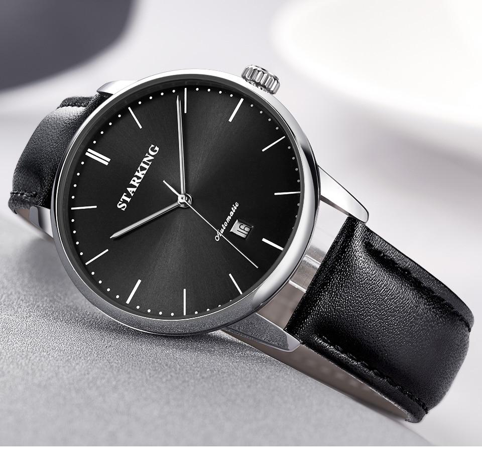 HTB1SL.tXtfvK1RjSspoq6zfNpXav STARKING Luxury Brand Cheap Mechanical Watch Auto Date Automatic Self-wind Male Clock 28800 High Beat Watch Relogio Sport TM0915