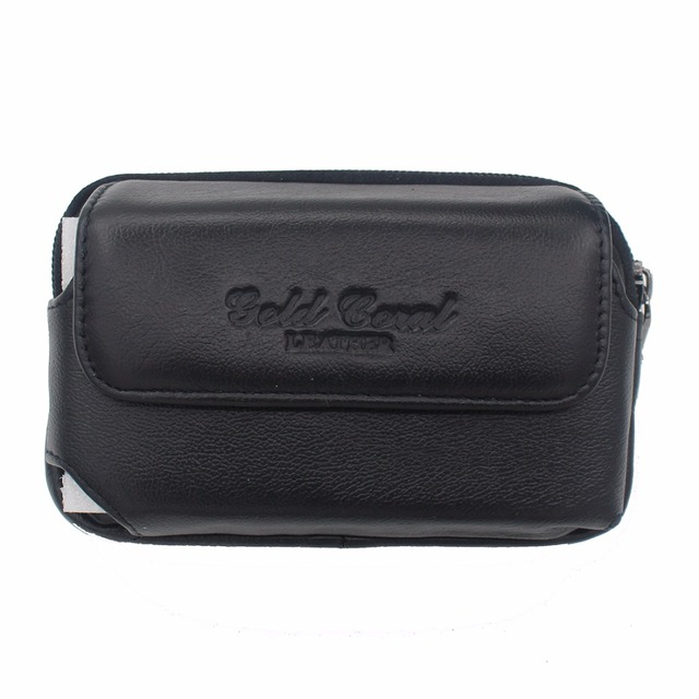 High Quality Real Genuine Leather Fanny Pack Men Hip Bum Cell Mobile Phone Case Skin Belt Purse Bag Male Cowhide Waist Bag