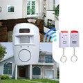 Sistema inalámbrico de seguridad cámara de seguridad ir infrarrojos motion sensor detector de alarma + 2 control remoto + paquete al por menor