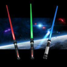 HBB 1PC New Telescopic Lightsaber Toys Flashing Sword Cosplay Luminous Music Sta