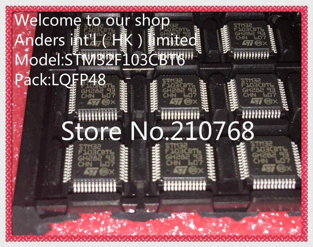 50pcs lot STM32F103CBT6TR STM32F103CBT6 STM32F103 LQFP48