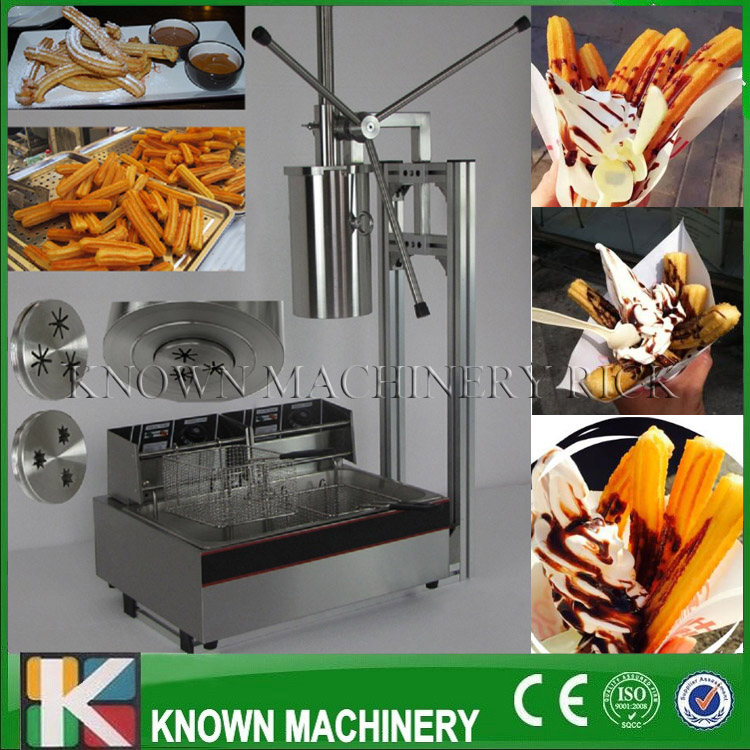 5L capacity of Spanish churros filler maker/making machine luxury churros machine with a 12L electric fryer with free shipping 12l electric automatic spain churros machine fried bread stick making machines spanish snacks latin fruit maker
